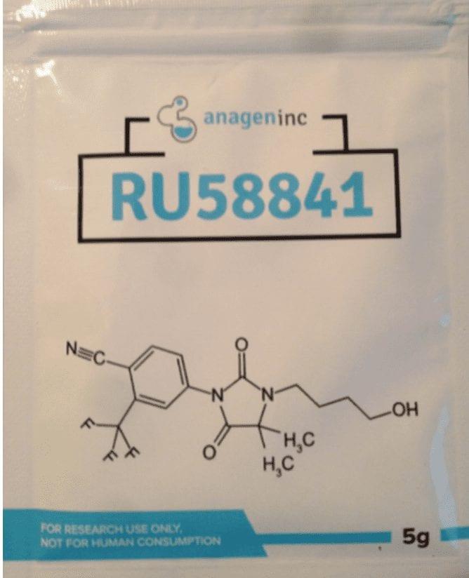 אריזת 5 גרם של RU58841