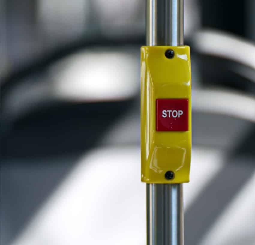 כפתור עצור של אוטובוס
