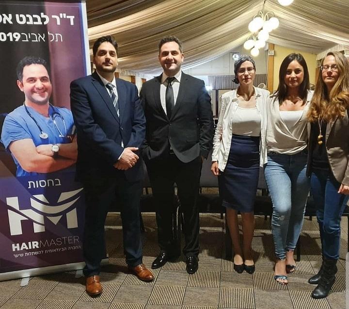 שחר סידס עם דר אקאר בכנס במלון דן פנורמה בתל אביב