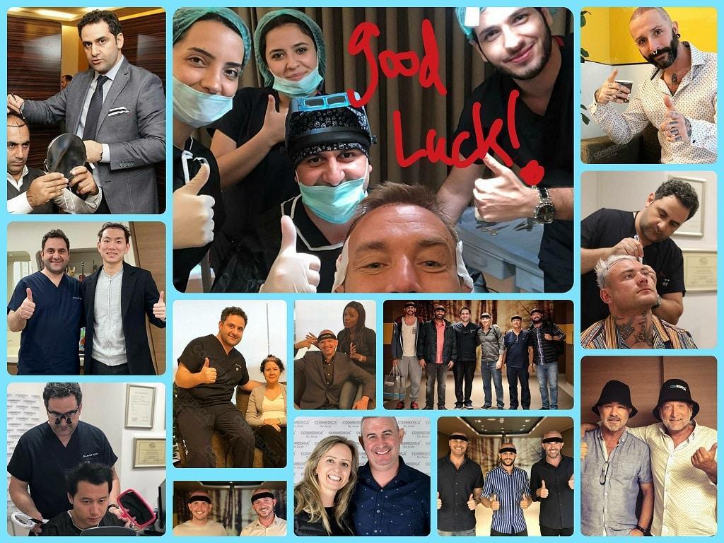 תמונות של מטופלים מכל העולם עם דר אקאר